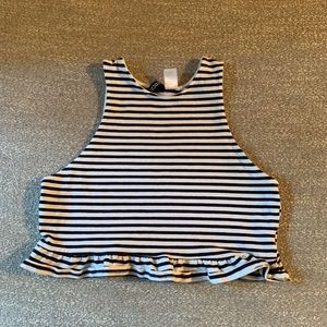 Brand new striped crop top!